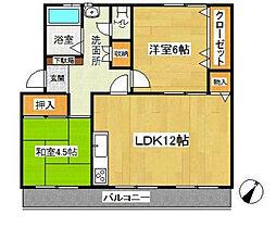 名瀬マンション[4階]の間取り