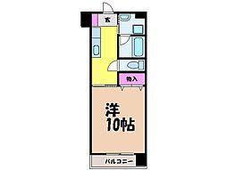 愛媛県松山市柳井町2丁目の賃貸マンションの間取り