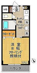リヴェールハイム[4階]の間取り