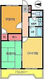 FKマンション[504号室]の間取り