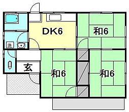 [一戸建] 愛媛県伊予郡松前町西古泉 の賃貸【/】の間取り