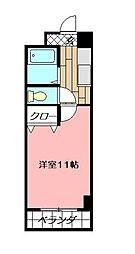 アヴィニール清水[10階]の間取り