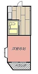 ジョイフル東鳴水[105号室]の間取り