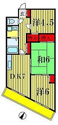 富士ビューハイツ[2階]の間取り