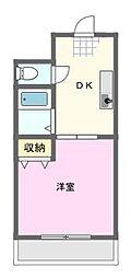 サンライフ宏和 2階1DKの間取り