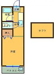 プレステージ 106号室[106号室]の間取り