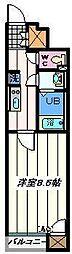 東京都葛飾区立石6丁目の賃貸アパートの間取り