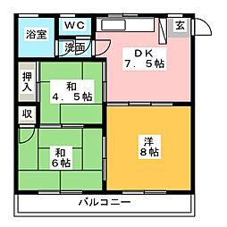 筑宝ビル[3階]の間取り