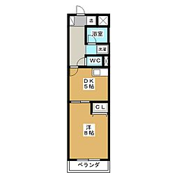 チェリーコーポ東静岡[3階]の間取り