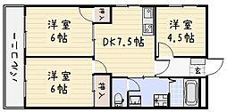 シャトレ片野II[202号室]の間取り