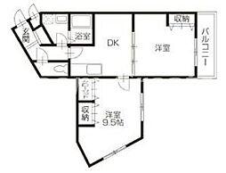 徳島県徳島市西新浜町2丁目の賃貸マンションの間取り
