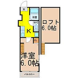 TKロイヤルコーポ(ティーケーロイヤルコーポ)[1階]の間取り