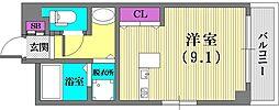 兵庫県神戸市兵庫区西多聞通1丁目の賃貸マンションの間取り
