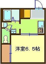 インパレスB[1-B号室]の間取り
