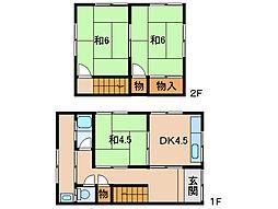 尾崎住宅A南棟(2戸1)[1階]の間取り