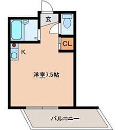 ハイツコスモス[4階]の間取り