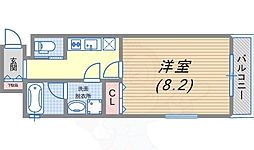 JR東海道・山陽本線 須磨駅 徒歩7分の賃貸アパート 2階1Kの間取り