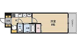 ドルチェヴィータ北梅田[7階]の間取り