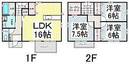 [一戸建] 長野県長野市檀田2丁目 の賃貸【/】の間取り