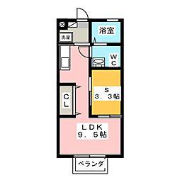 Kパレス2[1階]の間取り