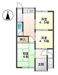 [一戸建] 愛知県北名古屋市九之坪神明 の賃貸【/】の間取り
