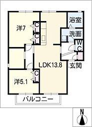 フレシールTuki[2階]の間取り