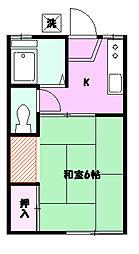 小田急ハイツ B棟[205号号室]の間取り