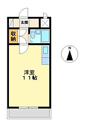 グランドハイツ徳野[5階]の間取り