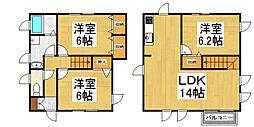 [テラスハウス] 東京都清瀬市下清戸4丁目 の賃貸【/】の間取り