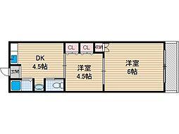 むつみマンション[1階]の間取り