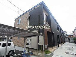 神奈川県厚木市松枝2の賃貸アパートの外観