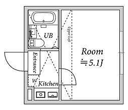 カーサプリマベーラ[1階]の間取り
