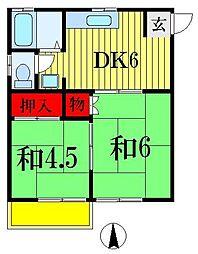 ドミールタカハシII[2階]の間取り