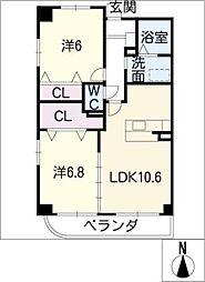 クラシオンI[2階]の間取り