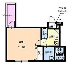 フジパレス桑津[3階]の間取り