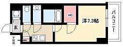 エスリード新栄デュオ 6階1Kの間取り