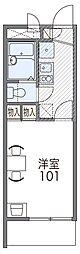 JR阪和線 三国ヶ丘駅 徒歩9分の賃貸マンション 1階1Kの間取り
