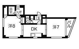東京都豊島区南大塚3丁目の賃貸マンションの間取り