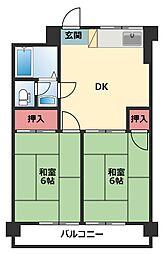神奈川県横浜市鶴見区上末吉5丁目の賃貸マンションの間取り
