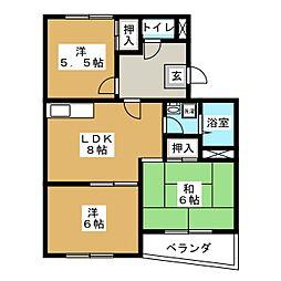 カーサOBATA[1階]の間取り
