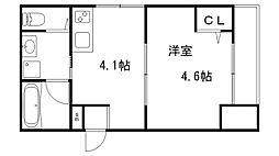 JR東海道・山陽本線 神戸駅 徒歩11分の賃貸マンション 3階1Kの間取り