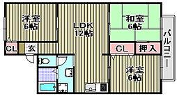 アットハウスMATSUTANI[1-203号室]の間取り
