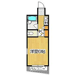ノアーズアーク京都朱雀[402号室]の間取り