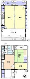 [テラスハウス] 千葉県八千代市勝田台3丁目 の賃貸【/】の間取り