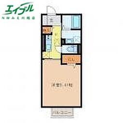 近鉄名古屋線 霞ヶ浦駅 徒歩13分の賃貸アパート 1階1Kの間取り