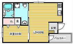 F maison 住之江[301号室]の間取り