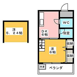 アクセスコートⅦ[2階]の間取り