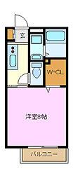 ワンズイースト[2階]の間取り