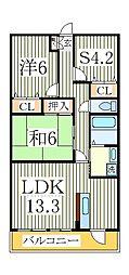 AXIS KASHIWA(アクシス カシワ)[5階]の間取り