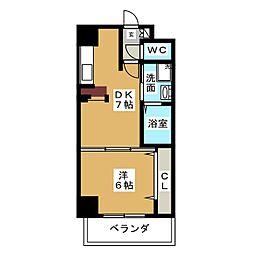 ヤマトマンション大須V[3階]の間取り